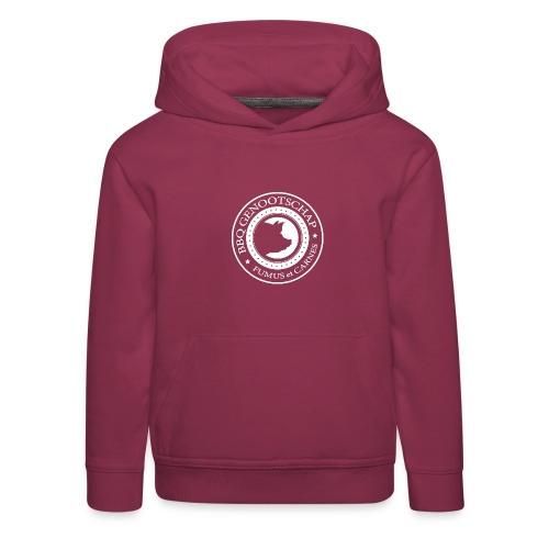 BBQ Genootschap logo shirt (voorkant) - Kinderen trui Premium met capuchon