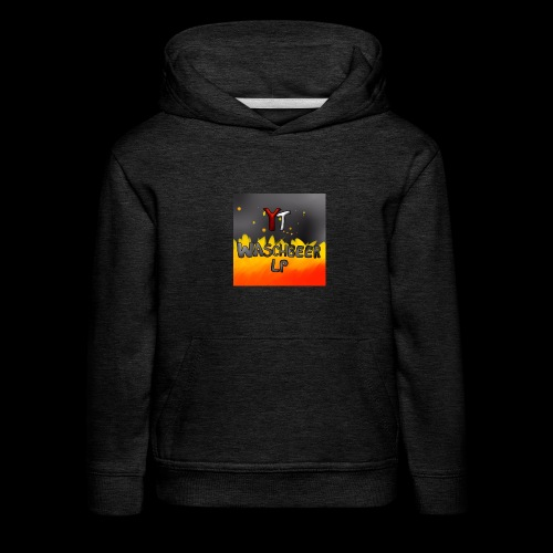Waschbeer Design 2# Mit Flammen - Kinder Premium Hoodie