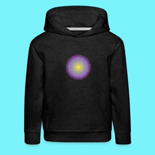 Fibonacci based image with radiating elements - Kids' Premium Hoodie
