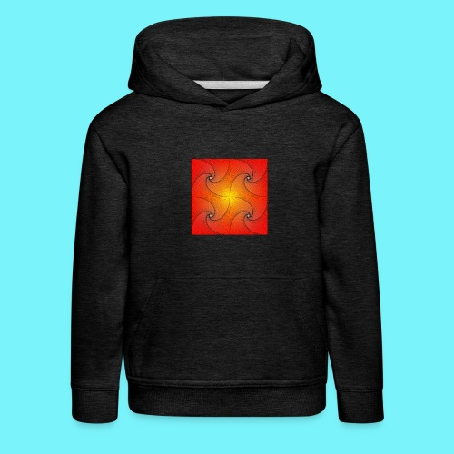 Pursuit curve in red and yellow - Kids' Premium Hoodie