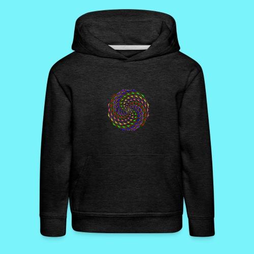 Mandala in rainbow colours - Kids' Premium Hoodie