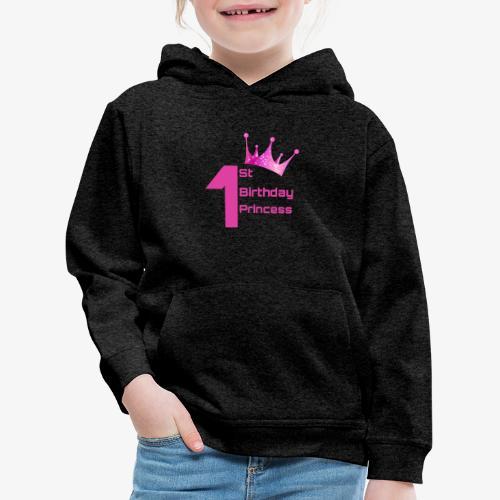 1st Birthday Princess - Felpa con cappuccio Premium per bambini