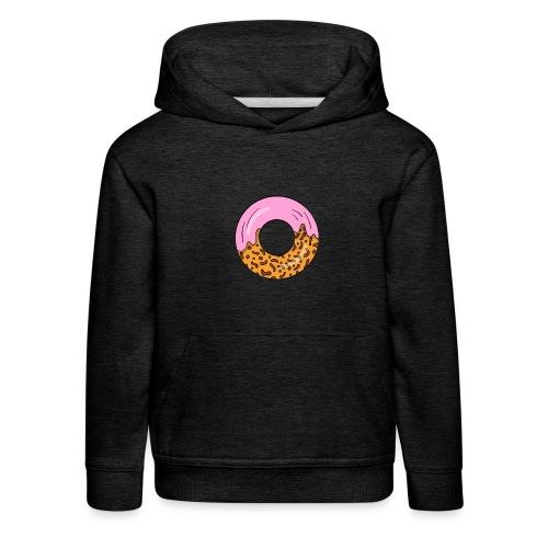 strawberry doughnut cartoon - Kinder Premium Hoodie