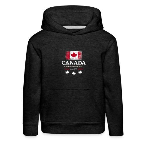 Canada Kanada Amerika maple leaf Flagge Fahne - Kids' Premium Hoodie