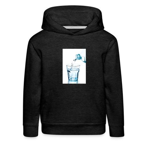 Glas-water-jpg - Kinderen trui Premium met capuchon