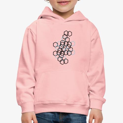 Hexagon Muster - Kinder Premium Hoodie