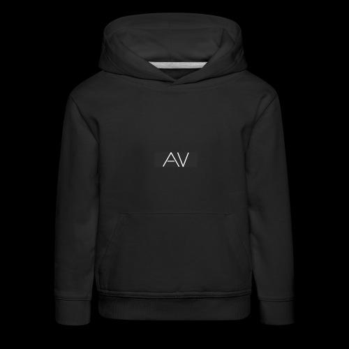 AV White - Kids' Premium Hoodie