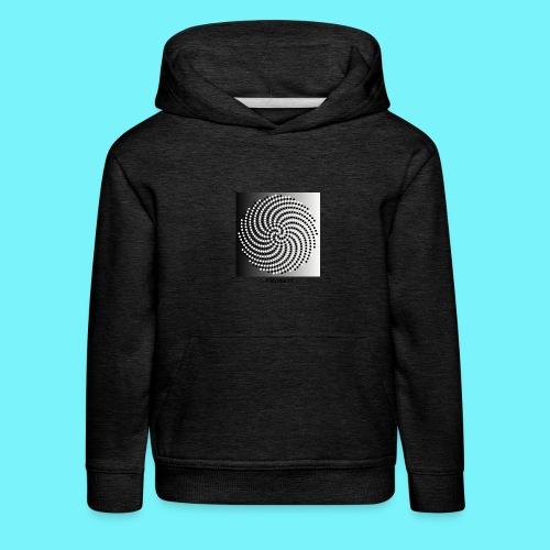 Fibonacci spiral pattern in black and white - Kids' Premium Hoodie