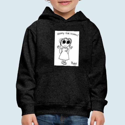 Pupy: ready for school! - girl - Felpa con cappuccio Premium per bambini
