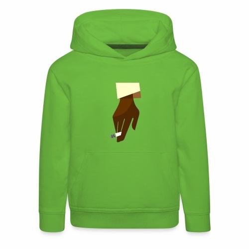 Hand mit Kippe - Kinder Premium Hoodie