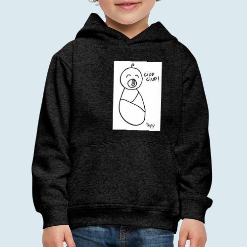 Pupy: ciup ciup! - boy - Felpa con cappuccio Premium per bambini