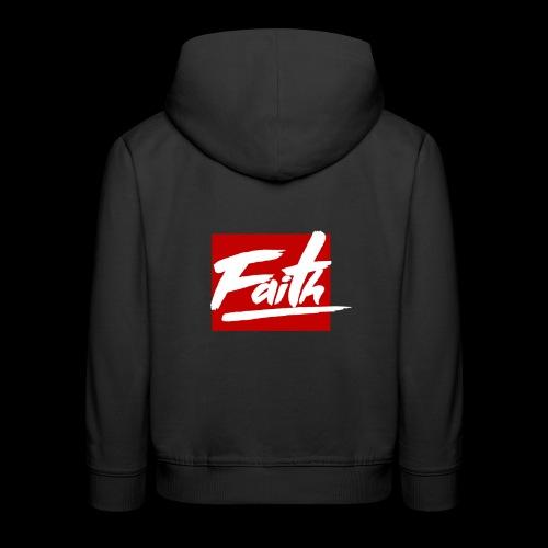 Faith Red - Sudadera con capucha premium niño