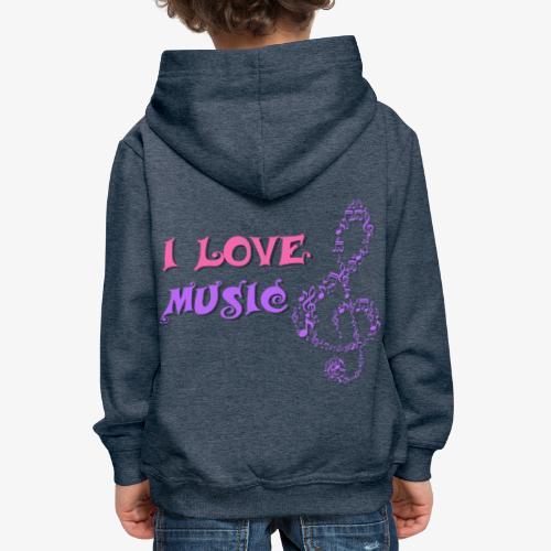 Love Music - Sudadera con capucha premium niño