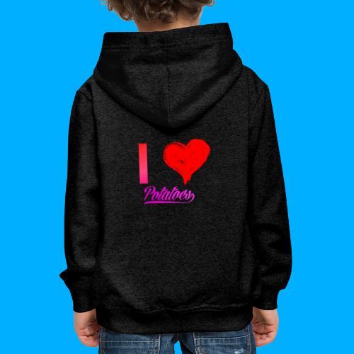 I Heart Potato T-Shirts - Kids' Premium Hoodie