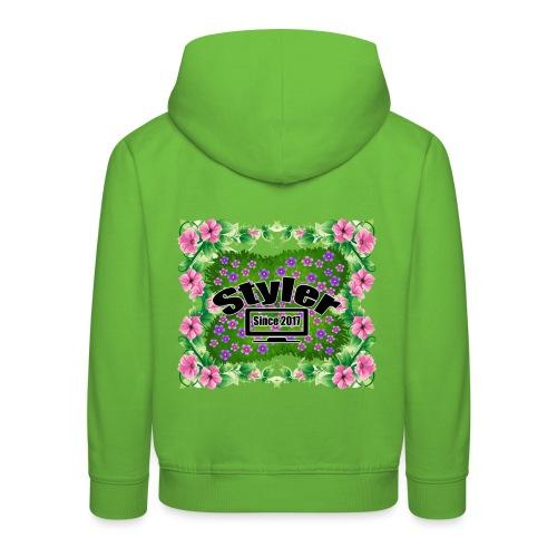 Styler Bloemen Design - Kinderen trui Premium met capuchon