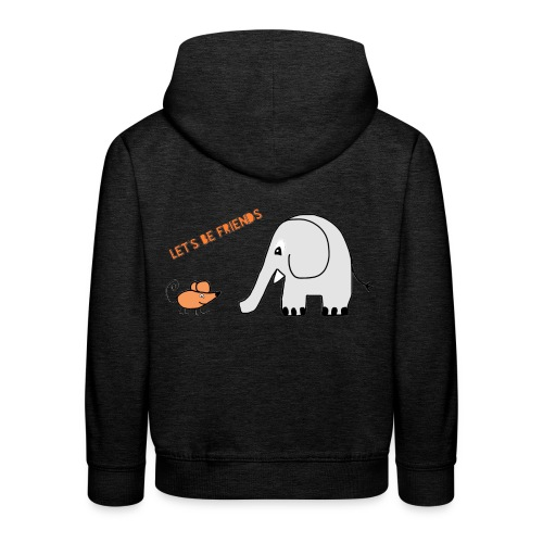 Elephant and mouse, friends - Kids' Premium Hoodie