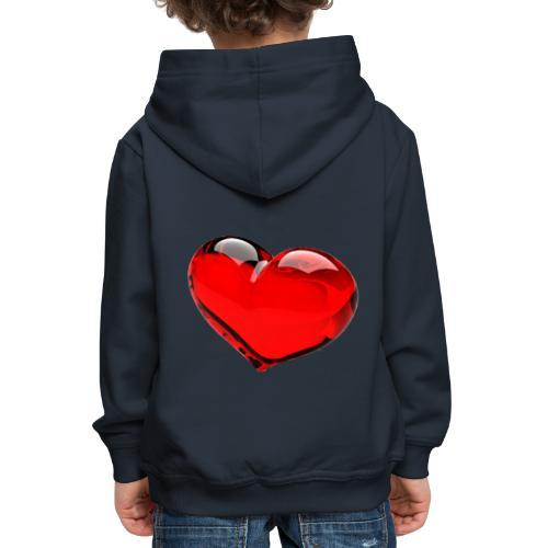 serce 3D - Bluza dziecięca z kapturem Premium