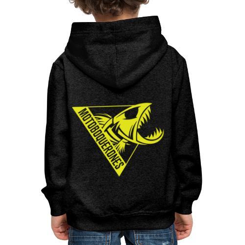 Logo Motoboquerones amarillo - Sudadera con capucha premium niño