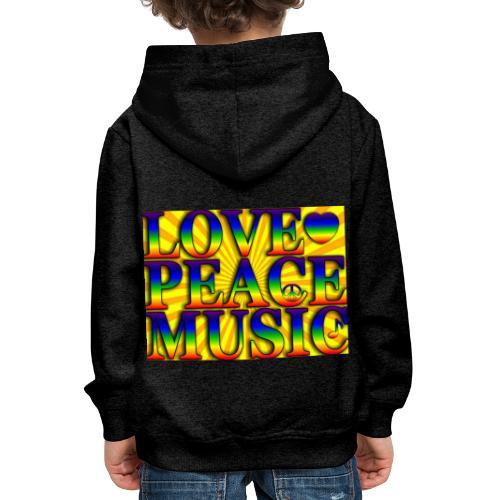 Love Peace and Music - Kids' Premium Hoodie