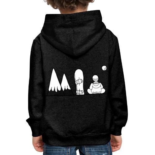 snowboard et montagnes - Pull à capuche Premium Enfant