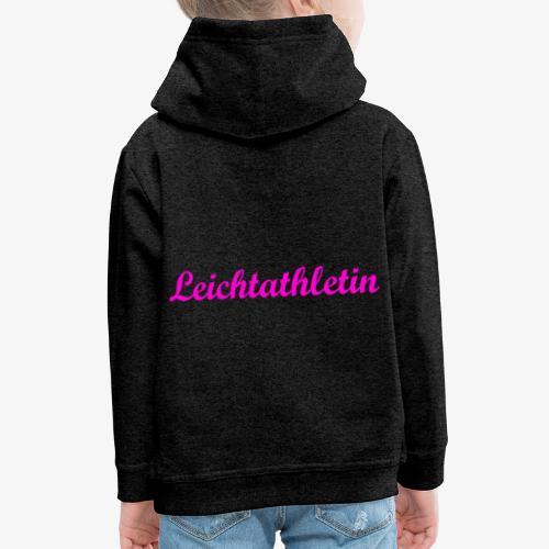 Leichtathletin - Kinder Premium Hoodie
