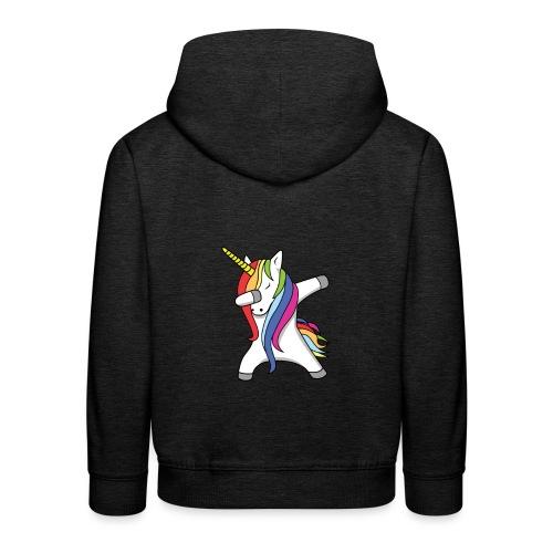 Meisjes Unicorn Dab Spullen - Kinderen trui Premium met capuchon