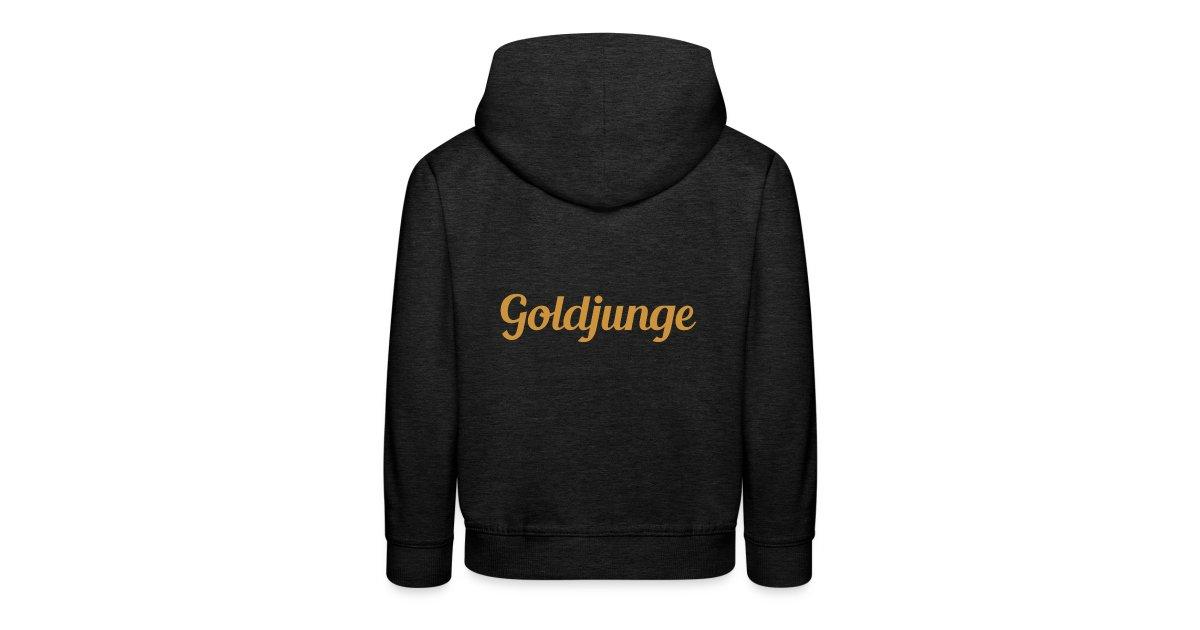 Goldjunge | Goldjunge Schriftzug Kinder Premium Hoodie