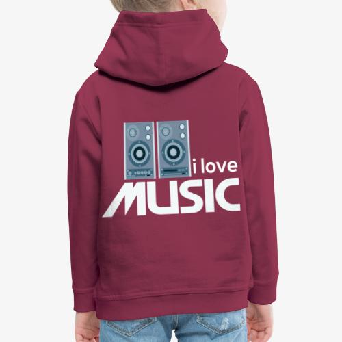 Amo la música 02 - Sudadera con capucha premium niño