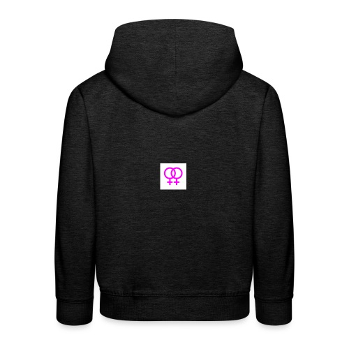 lesbian logo - Pull à capuche Premium Enfant