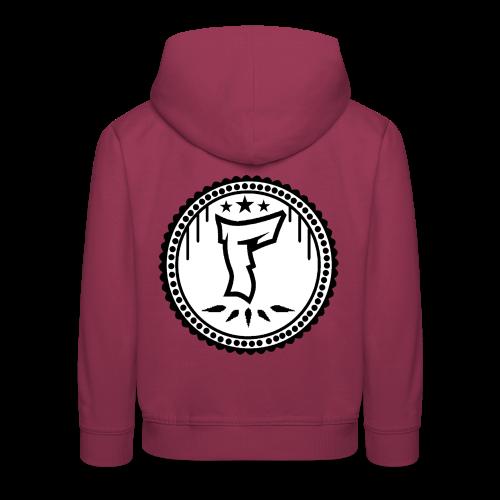 F Logo in Schwarz/Weiß - Kinder Premium Hoodie