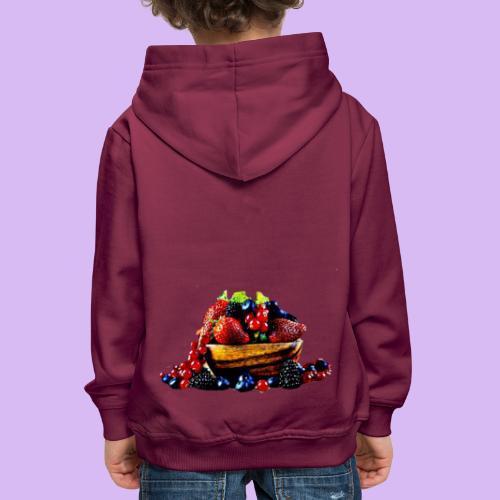 frutti di bosco - Felpa con cappuccio Premium per bambini