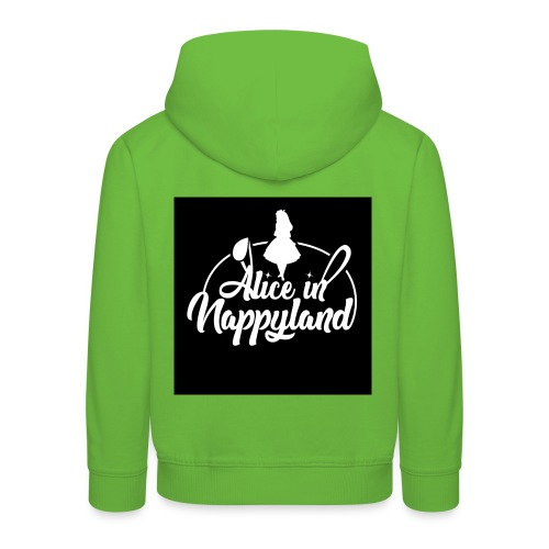 Alice in Nappyland TypographyWhite 1080 - Kids' Premium Hoodie