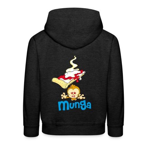 Munga Pizza - Felpa con cappuccio Premium per bambini