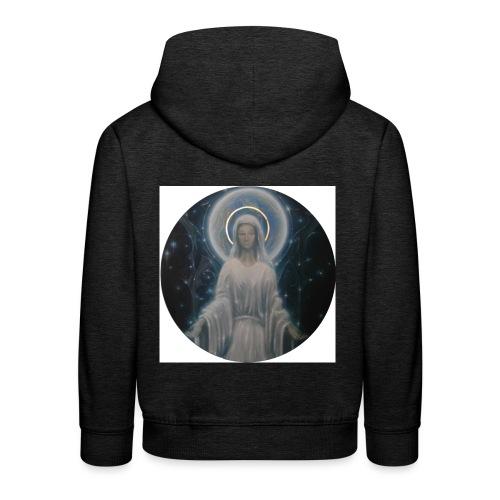 圣母玛利亚 Notre Dame by Jean Libon - Pull à capuche Premium Enfant