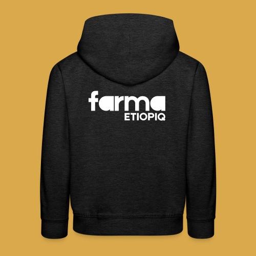 Farma Etiopiq straight logo - Premium-Luvtröja barn