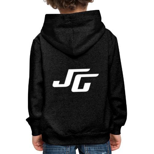 JG Logo weiss - Kinder Premium Hoodie
