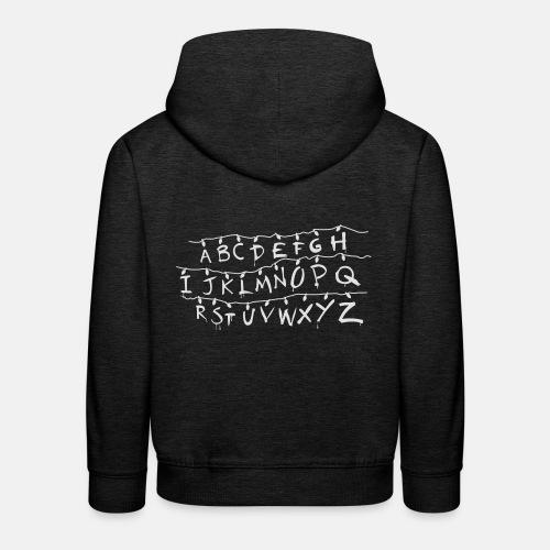 Stranger Things Alphabet T-Shirts - Kids' Premium Hoodie
