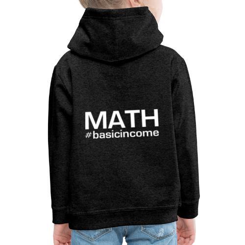 math white - Kinderen trui Premium met capuchon
