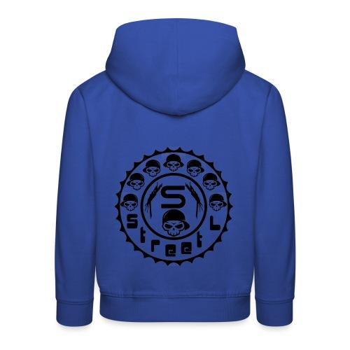 rawstyles rap hip hop logo money design by mrv - Bluza dziecięca z kapturem Premium