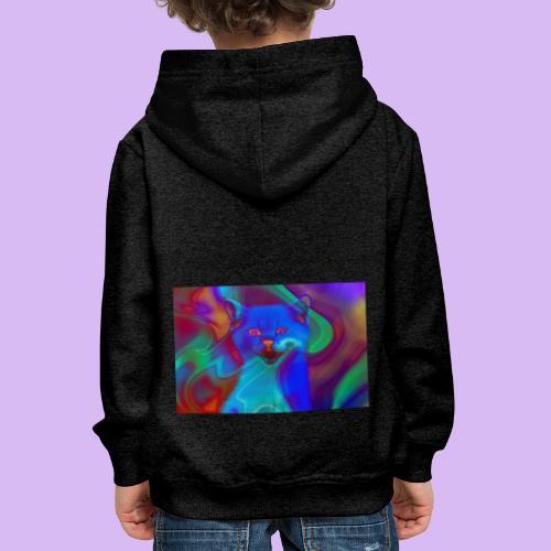 Gattino con effetti neon surreali - Felpa con cappuccio Premium per bambini