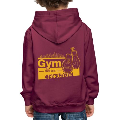 Gym Druckfarbe Orange - Kinder Premium Hoodie