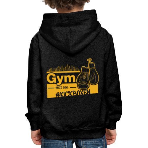Gym Druckfarbe Orange - Kinder Premium Hoodie