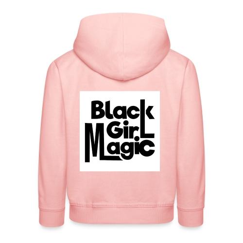 Black Girl Magic 2 Black Text - Kids' Premium Hoodie