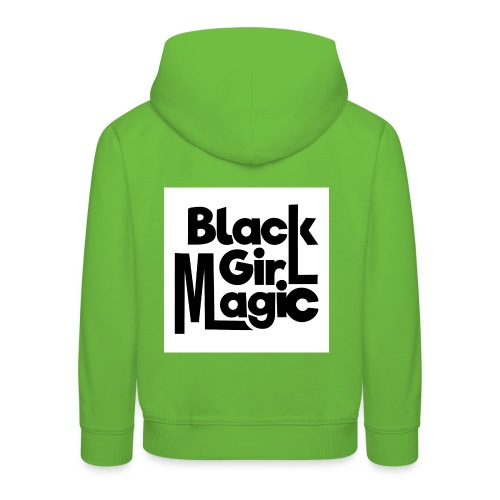 Black Girl Magic 2 Black Text - Kids' Premium Hoodie