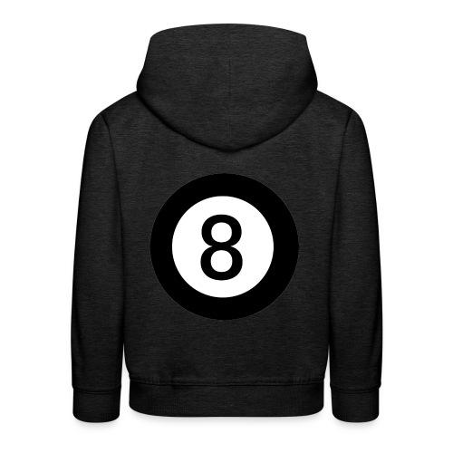 Black 8 - Kids' Premium Hoodie