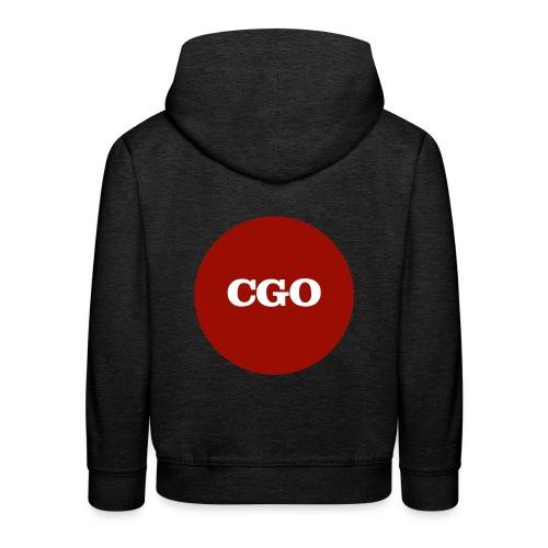 watermerk cgo - Kinderen trui Premium met capuchon