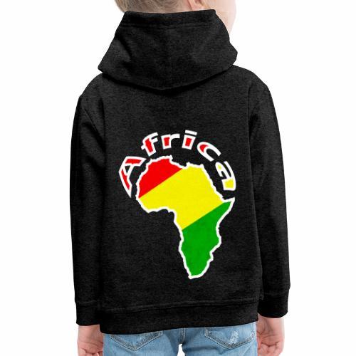 Afrika - rot gold grün - Kinder Premium Hoodie