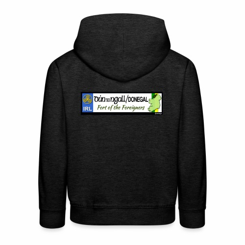 DONEGAL, IRELAND: licence plate tag style decal - Kids' Premium Hoodie
