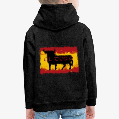 Spain Flag with bull - Kinder Premium Hoodie