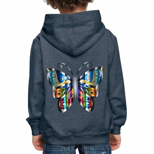 butterfly - Bluza dziecięca z kapturem Premium
